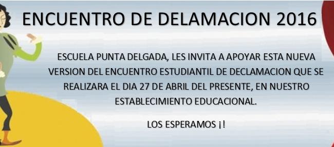 INVITACION ENCUENTRO DE DECLAMACION